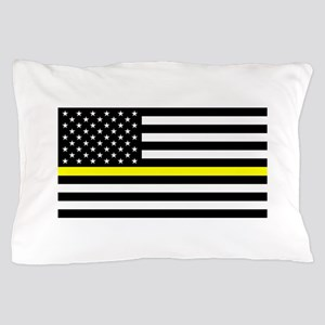 U.S. Flag: Black Flag & The Thin Yello Pillow Case