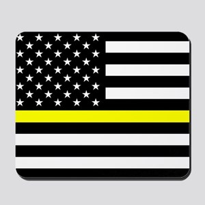 U.S. Flag: Black Flag & The Thin Yellow Mousepad