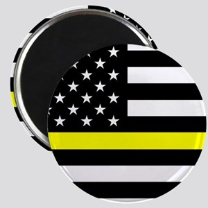 U.S. Flag: Black Flag & The Thin Yellow Lin Magnet