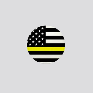 U.S. Flag: Black Flag & The Thin Yello Mini Button