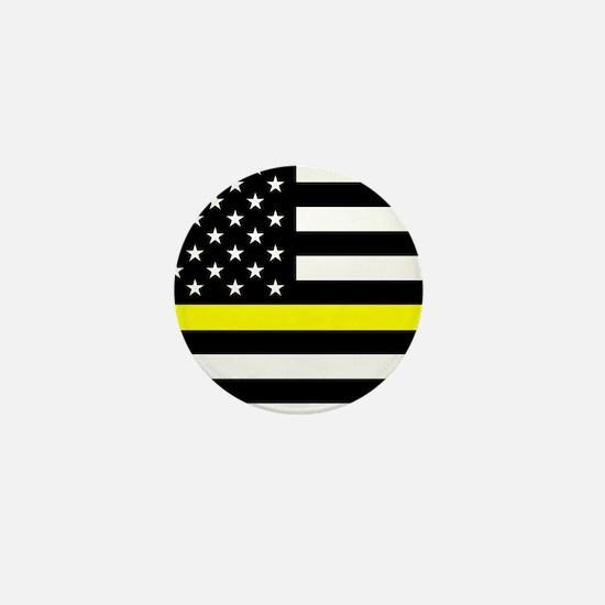 U.S. Flag: Black Flag & The Thin Yello Mini Button
