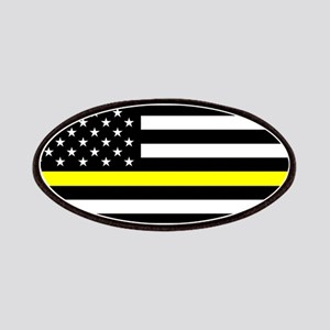 U.S. Flag: Black Flag & The Thin Yellow Line Patch