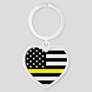 U.S. Flag: Black Flag & The Thin Ye Heart Keychain