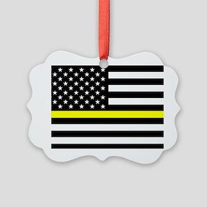 U.S. Flag: Black Flag & The Thin Picture Ornament