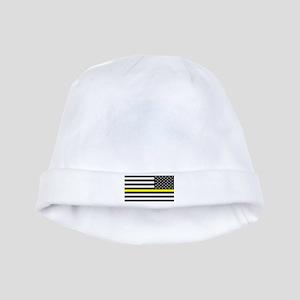U.S. Flag: Black Flag & The Thin Yellow L baby hat