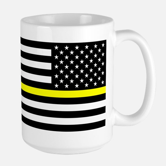 U.S. Flag: Black Flag & The Thin Yellow Large Mug