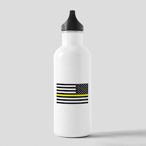 U.S. Flag: Black Flag Stainless Water Bottle 1.0L