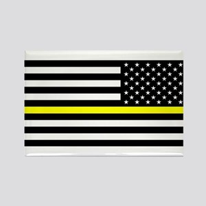 U.S. Flag: Black Flag & The Thin Rectangle Magnet
