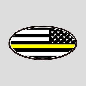 U.S. Flag: Black Flag & The Thin Yellow Line Patch