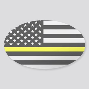 U.S. Flag: Black Flag & The T Sticker (Oval 10 pk)