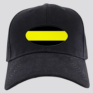 The Thin Yellow Line Black Cap