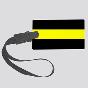 The Thin Yellow Line Large Luggage Tag