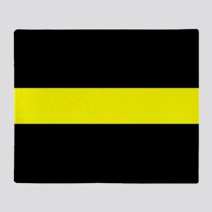 The Thin Yellow Line Throw Blanket