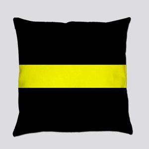 The Thin Yellow Line Everyday Pillow
