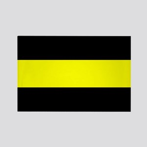 The Thin Yellow Line Rectangle Magnet