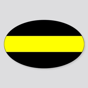 The Thin Yellow Line Sticker (Oval)