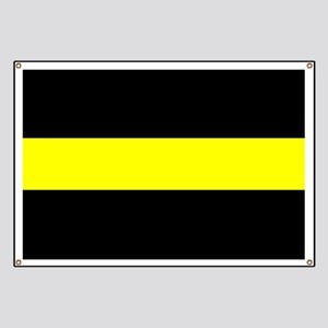 The Thin Yellow Line Banner