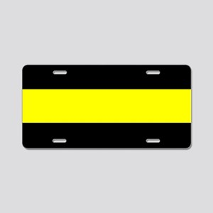 The Thin Yellow Line Aluminum License Plate