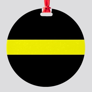 The Thin Yellow Line Round Ornament