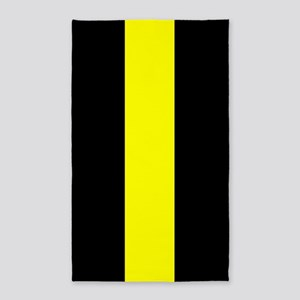 The Thin Yellow Line Area Rug