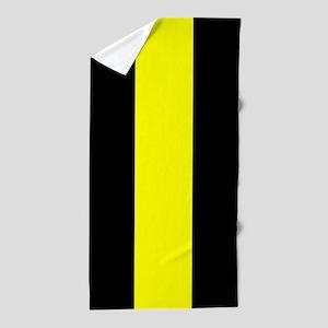 The Thin Yellow Line Beach Towel