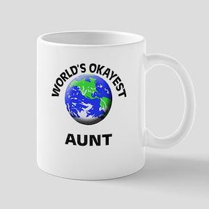 World's Okayest Aunt Mugs