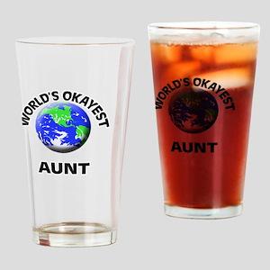 World's Okayest Aunt Drinking Glass