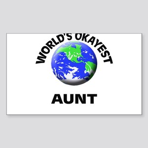 World's Okayest Aunt Sticker