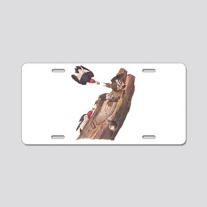 Red Headed Woodpeckers Aluminum License Plate