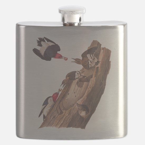 Red Headed Woodpeckers Flask