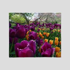 Tulips, Foster Park, IN Throw Blanket