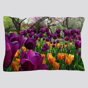 Tulips, Foster Park, IN Pillow Case