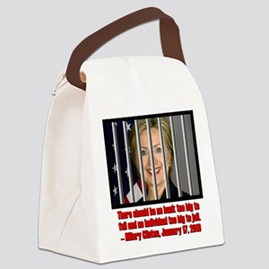 HILLARY TOO BIG TO JAIL Canvas Lunch Bag