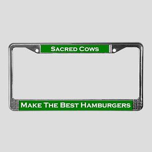 Sacred Cows #2 License Plate Frame