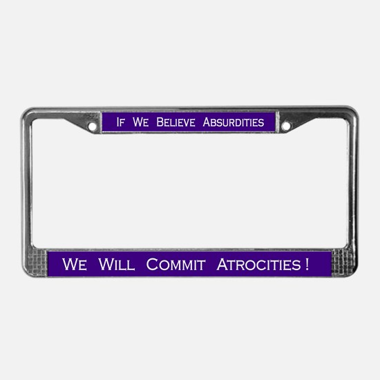 Voltaire #3 License Plate Frame
