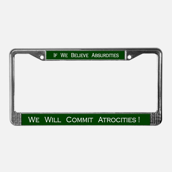 Voltaire #2 License Plate Frame