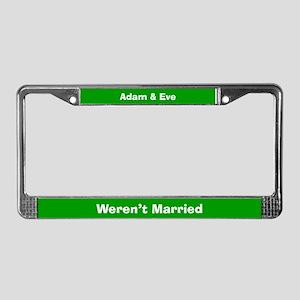 Adam & Eve #2 License Plate Frame