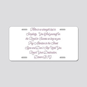 Simplify Your Journey Aluminum License Plate