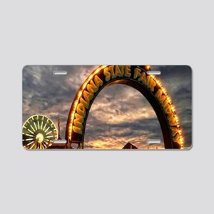Indiana State Fair Aluminum License Plate