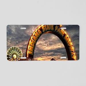 Indiana State Fair Aluminum License Plate