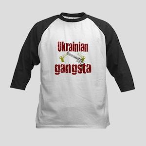 Ukrainian gangsta Kids Baseball Jersey