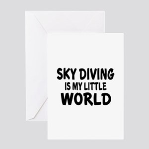 Sky diving Is My little World Greeting Card