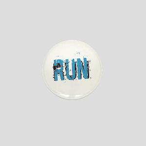 Grunge RUN Mini Button