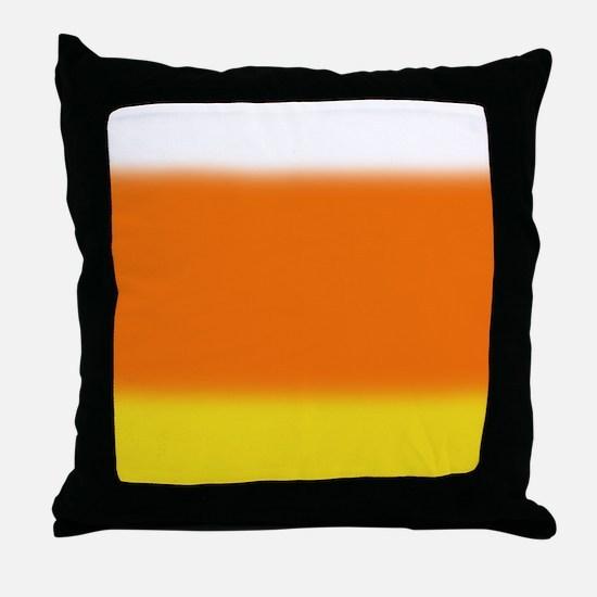 Candy Corn Ombre Throw Pillow