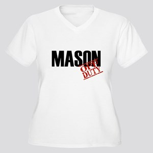 Off Duty Mason Women's Plus Size V-Neck T-Shirt