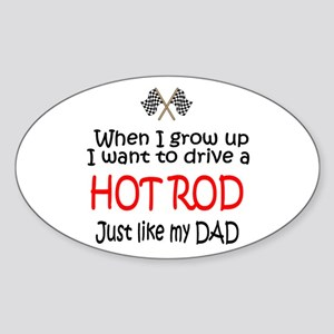 WIGU Hot Rod Dad Oval Sticker