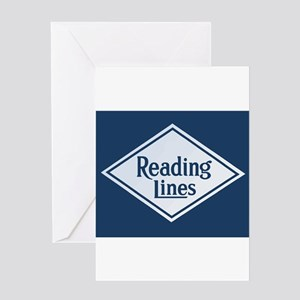 Reading Railroad Logo Blue Greeting Cards
