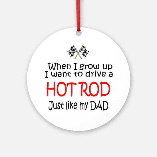 WIGU Hot Rod Dad Ornament (Round)