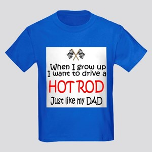 WIGU Hot Rod Dad Kids Dark T-Shirt