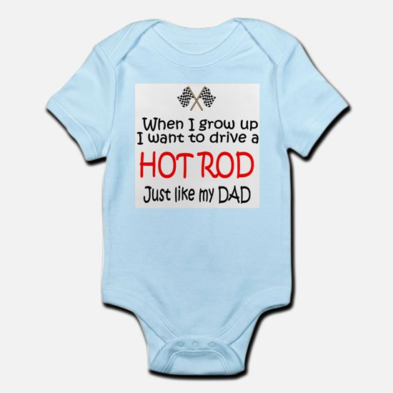 WIGU Hot Rod Dad Infant Bodysuit